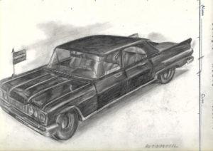 Dibujo coche Raúl Romero