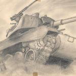 Dibujo tanque Raúl Romero