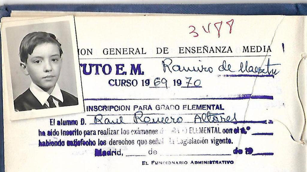 Infancia Raúl Romero
